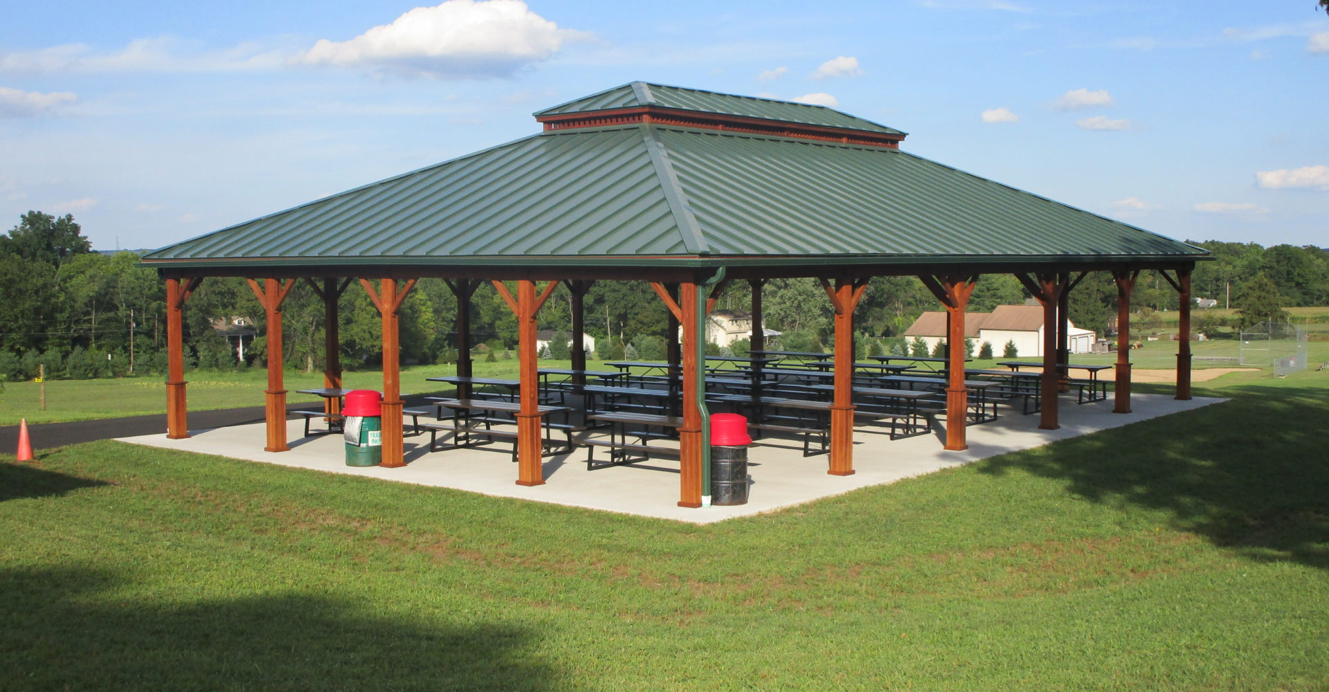 Large Wood Pavilions Creative Gazebos